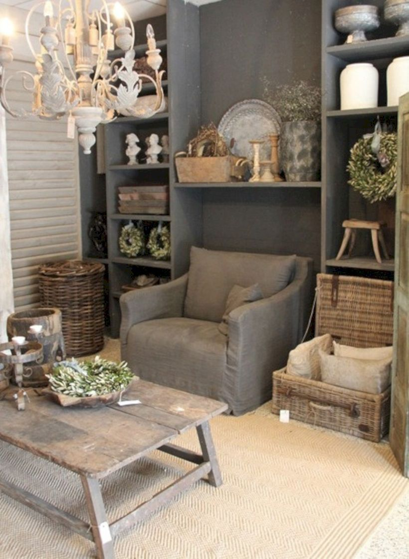 nice 54 Adorable Country Living Room Design