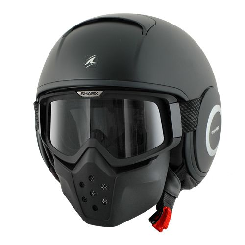 Purchase a Shark RAW Blank Matte Black Open Face Helmet from J&P Cycles,  your source for aftermarket motorcycle parts and accessories.