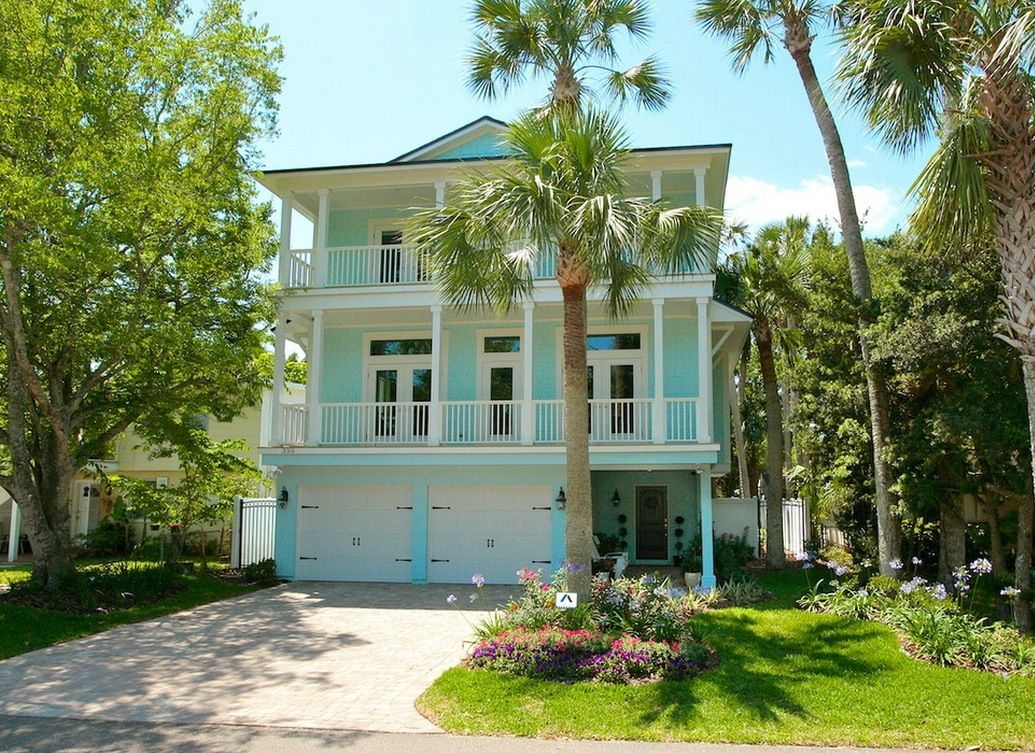 paint home design%0A Exterior  Natural Front Yard Garden View Background With Turquoise And  Cream Exterior Paint Colors Plus French Windows Design   Update Your Home  Exterior