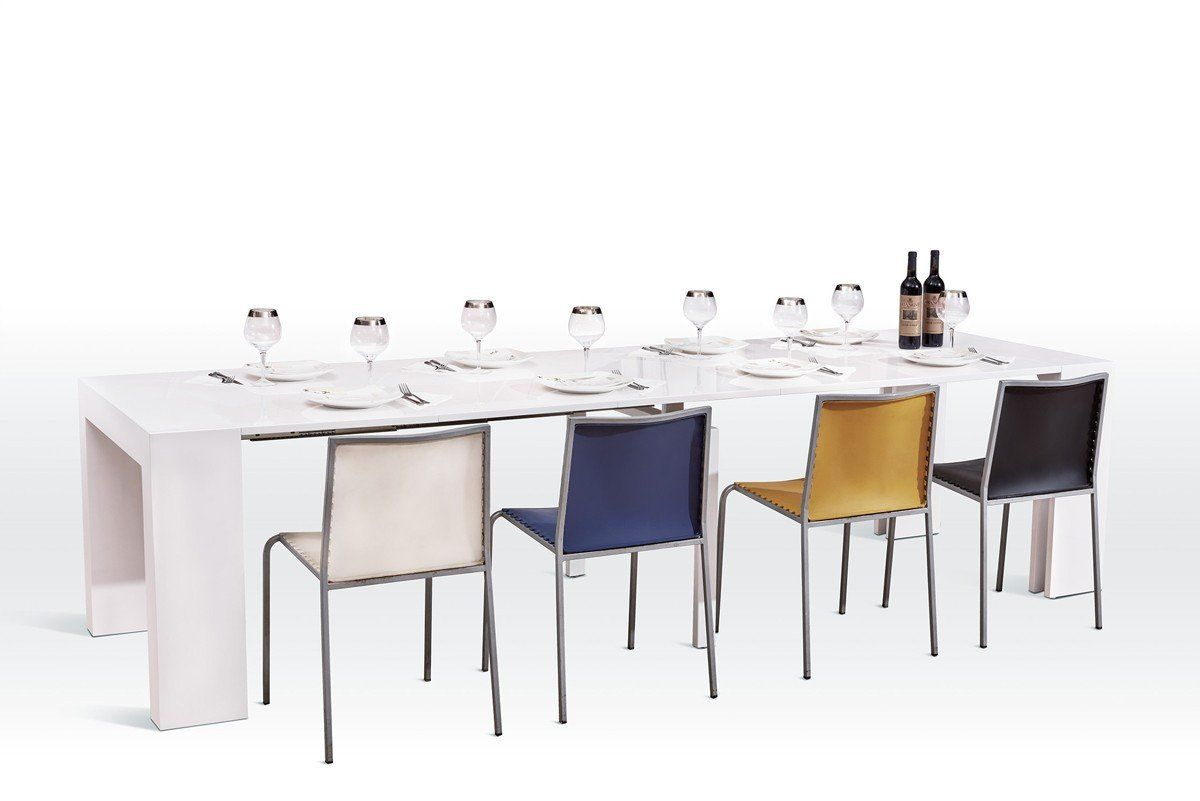 versus doreen modern white extendable dining table products rh pinterest co uk