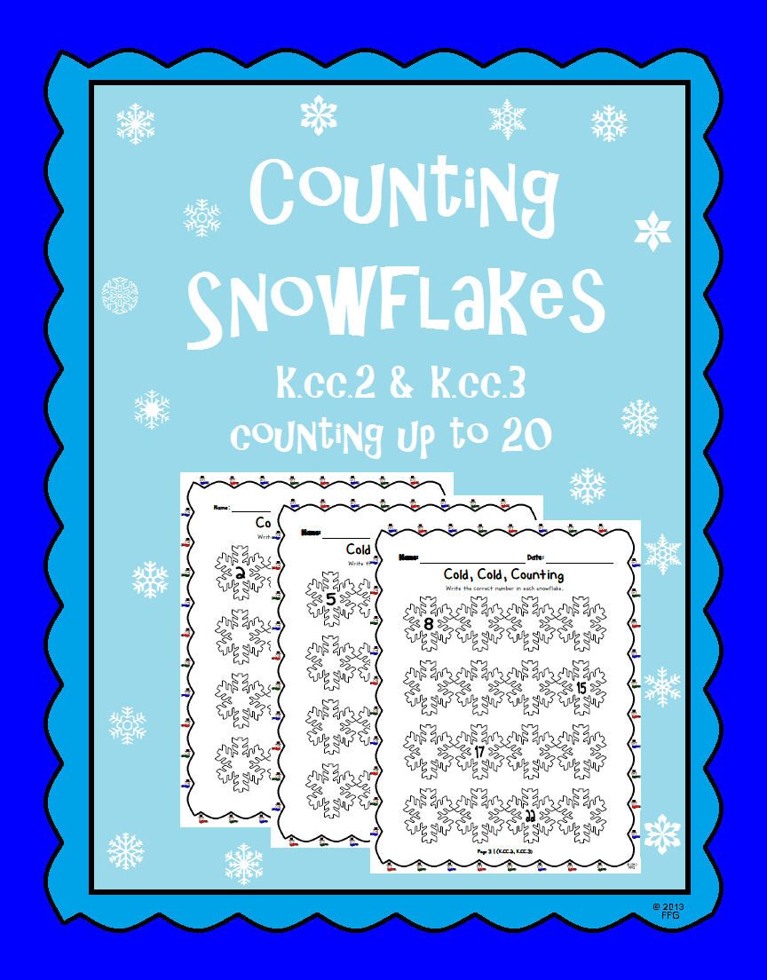 Counting from Anywhere Winter Worksheet- K.CC.2 | Math Resources on ...