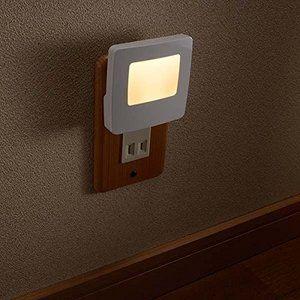 Ledナイトライト コンセント 明暗センサー付 光感センサー付 照明器具 Led常夜灯 室内用 自動点灯 軽量 高質量 足元灯 寝室や廊下 常夜灯 照明器具 照明