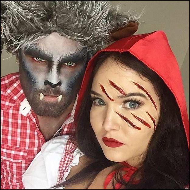 Easy Scary Couple Halloween Costumes #couplehalloweencostumes