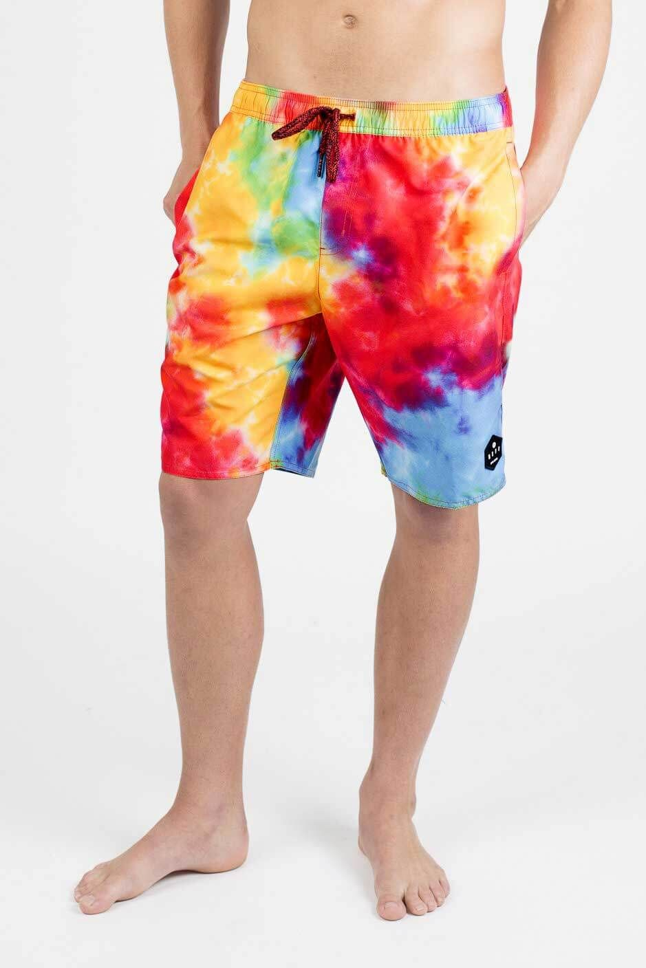 3360b2c8ae98c Neff Daily Tie Dye Swim Shorts for Men in Multi Color 18P56001-TIEDYE