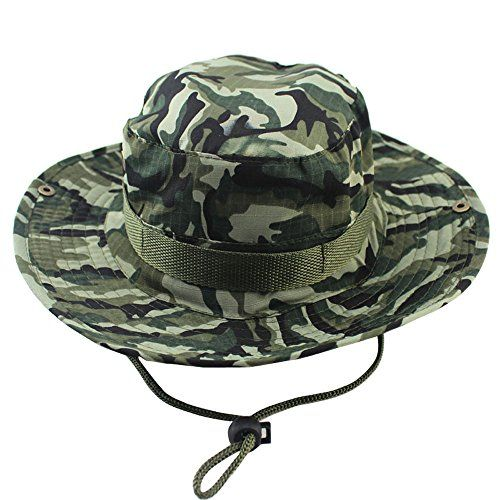 5261f7bbdd2 Kaisifei Bucket Hat Boonie Hunting Fishing Outdoor Cap (Brown Camo) at  Amazon Men s Clothing store