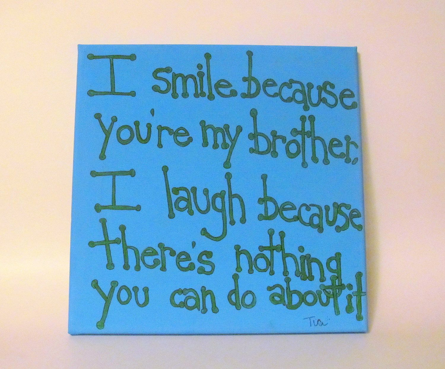 Brother Quote Canvas Art Gift for Brother 12x12 Canvas Quote Brother ...