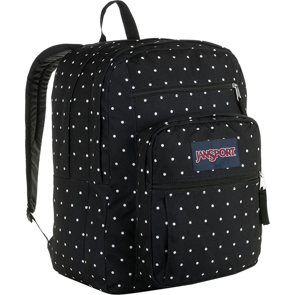 Artsivaris black polka dot waterproof canvas laptop bag 14
