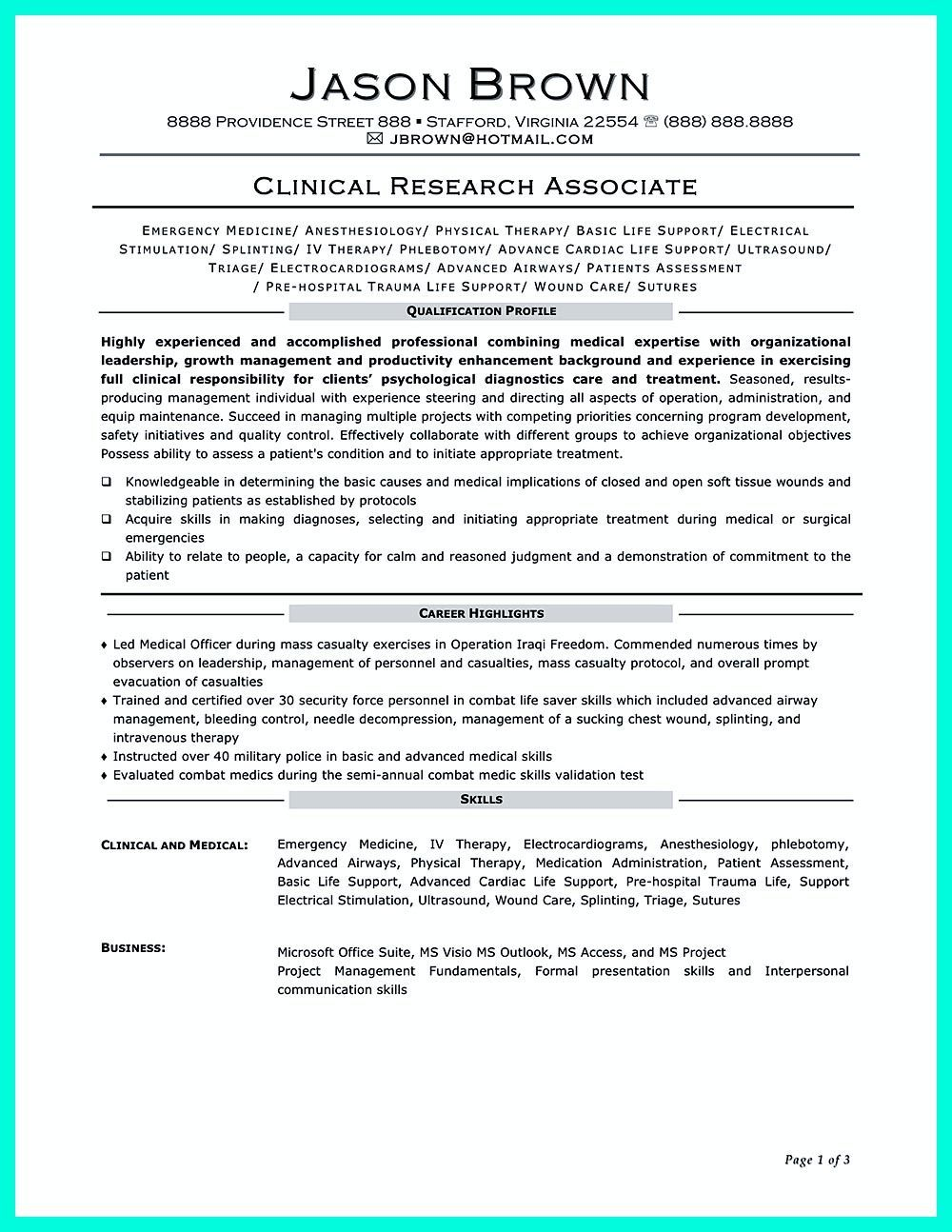 Clinical Research Associate Resume Objectives Are Needed To Convince Your Future Company That Your Goal Clinical Research Resume Objective Good Resume Examples