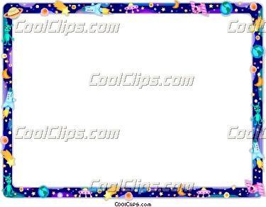 Free Space Border Clip Art | Outer Space frame Vector Clip ...