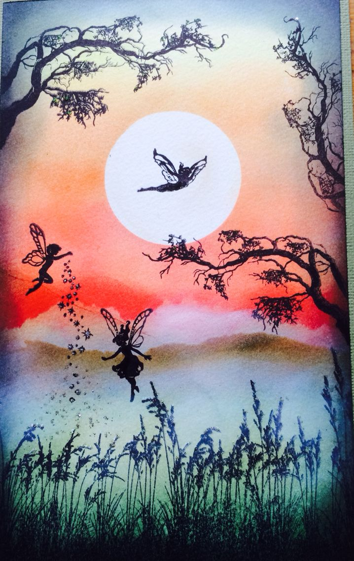 Making the nature at the sunset by KatiesDesign