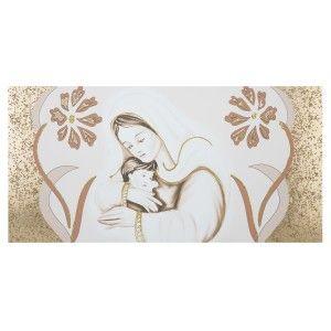 Capezzale su tela per camera da letto Maternità fiori oro ...