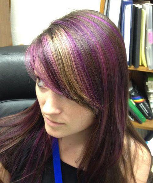Brown Hair With Purple Underneath 35 Glamorous Dark Brown Hair