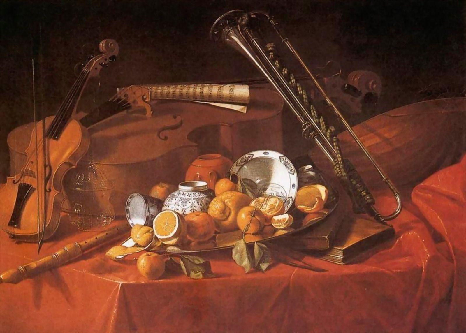 BODEGONES CON INSTRUMENTOS MUSICALES PINTADOS AL LEO Cuadros