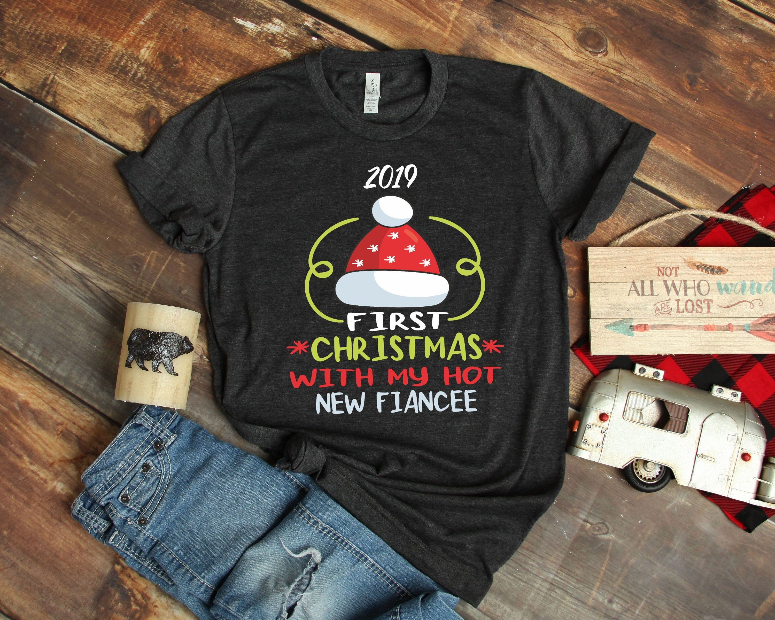 First Christmas With My Hot New Wife Married Matching Couple Sweatshirt
