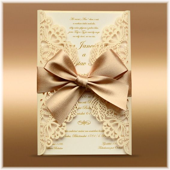 Most Expensive Wedding Invitations: Luxury Lace Wedding Invitation