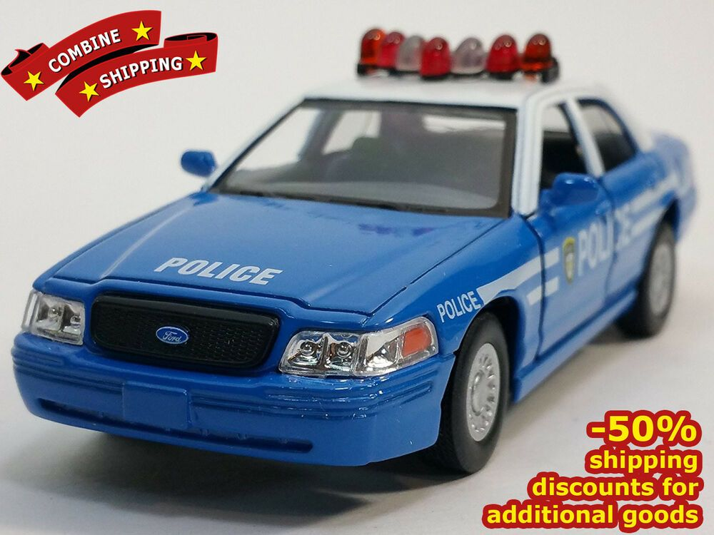 Ford Crown Victoria Police Blue Car Sollection Diecast Metal Model Scale 1 43 Kinsmart Ford In 2020 Victoria Police Blue Car Metal Models