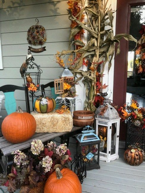 Fall Decor  Tune In Thursday #32 \u2013 Debbie Kitterman Outdoor Decor - decorating front porch for halloween