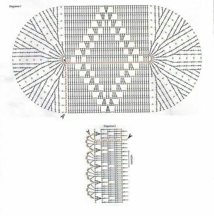 Stitch chart crochet pattern patron blanket for home