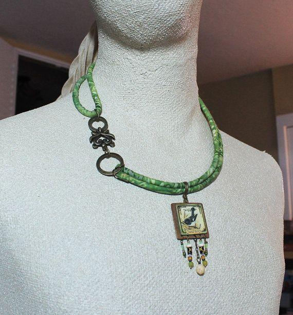 Journey hometextile necklace by OhSoFabu on Etsy, $49.00