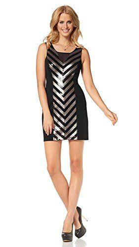 Siena Studio New York Kleid schwarz-gold 40 | Amazon Fashion ...