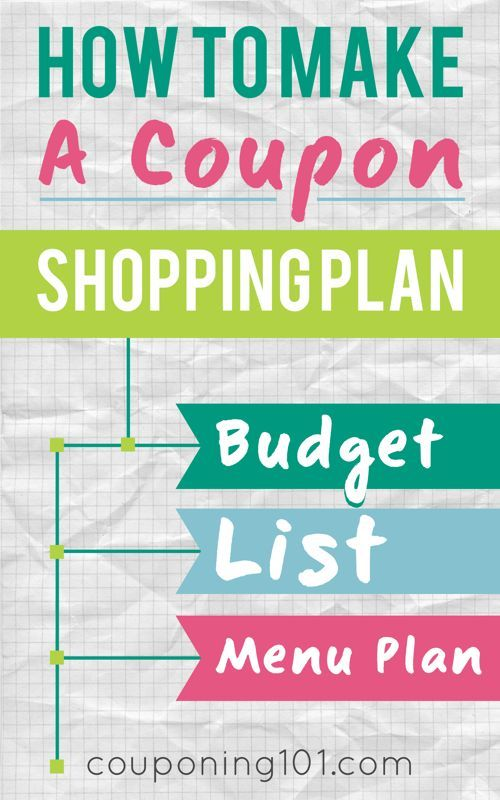 how to make a coupon shopping plan  how to budget  make a list  and menu plan in order to