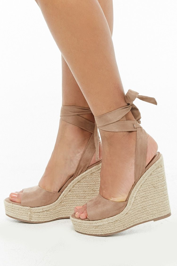 489450f0c84 Faux Suede Wedges in 2019   Things I Could Buy   Shoes, Wedges ...