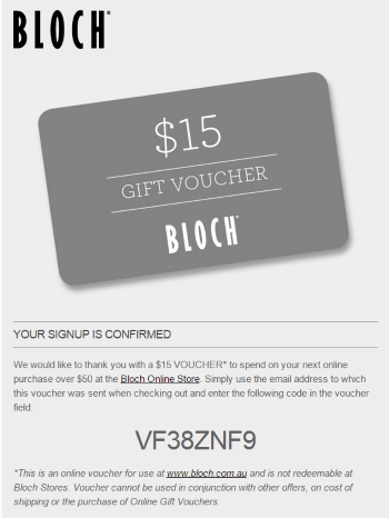 Thank You For Signing Up Here Is Your Voucher  Email