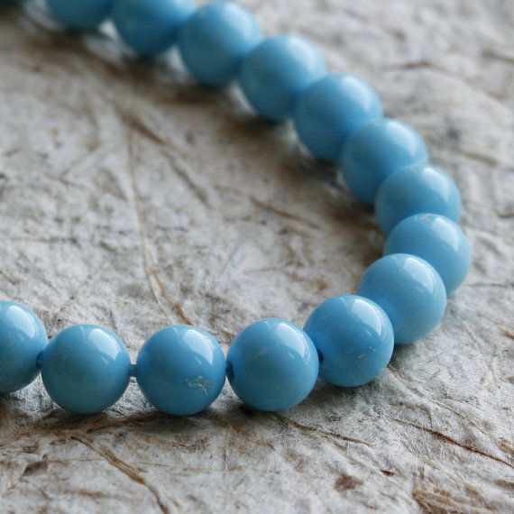 Natural Sleeping Beauty Turquoise 5mm Round Beads AAA - 4 ...