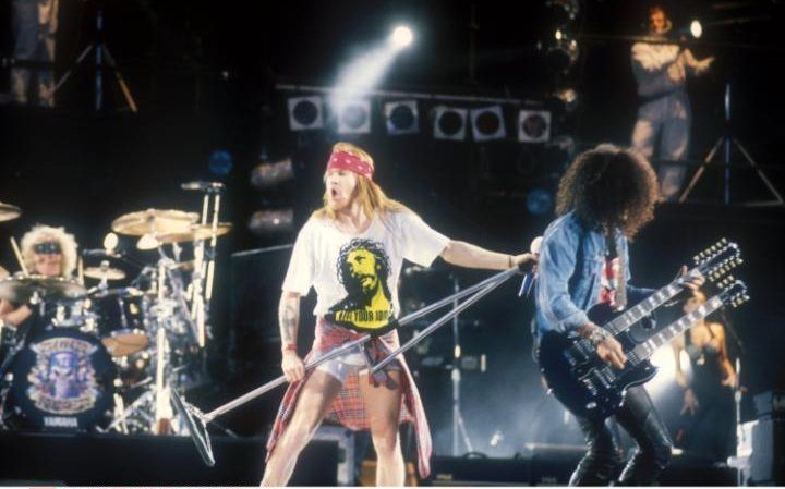Axl Rose & Slash, Guns N' Roses, early 90s #axlrose #gnr #gunsnrosesreu…