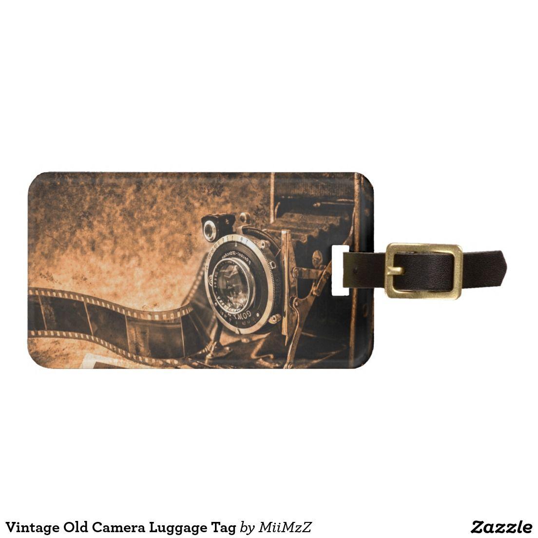 Vintage Old Camera Luggage Tag