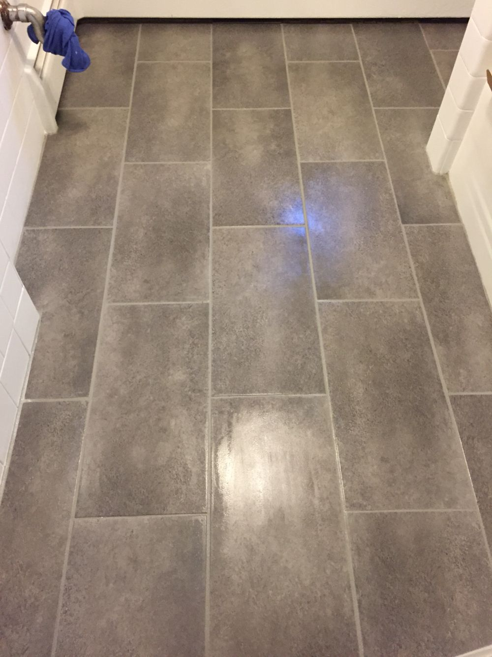 Home Depot TrafficMaster Groutable Vinyl Tile Coastal Grey ...