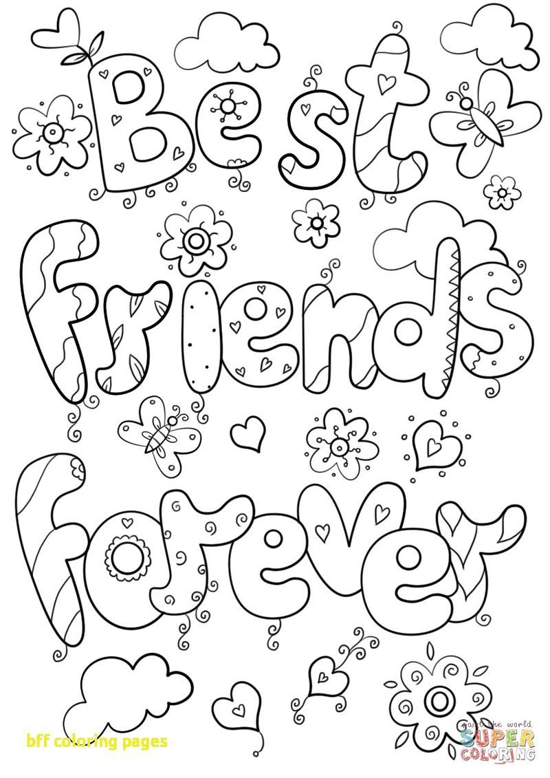 Free Printable Best Friend Coloring Pages Coloring Pages For Girls Coloring Pages Inspirational Coloring Pages