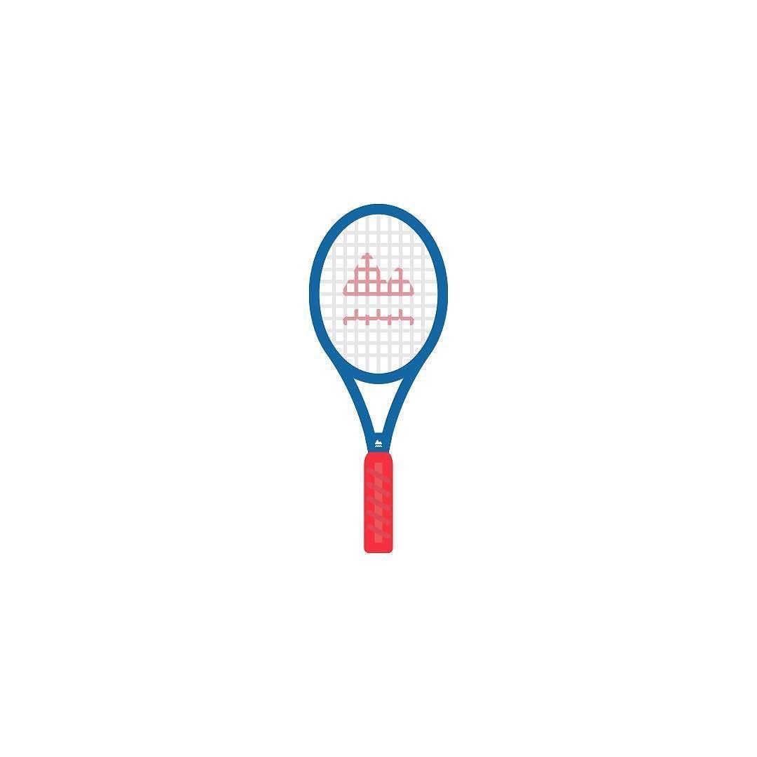 Icon Series Tennis Icon Racquet Iconaday Designaday Tennis Racquet By Hearhear Icons Tennis Racquets Icon