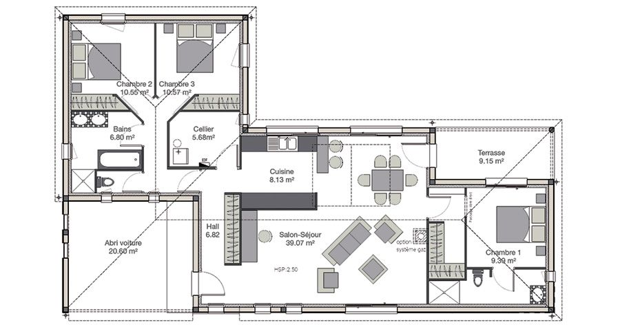 Plan maison moderne, plan maison contemporaine - IGC Construction