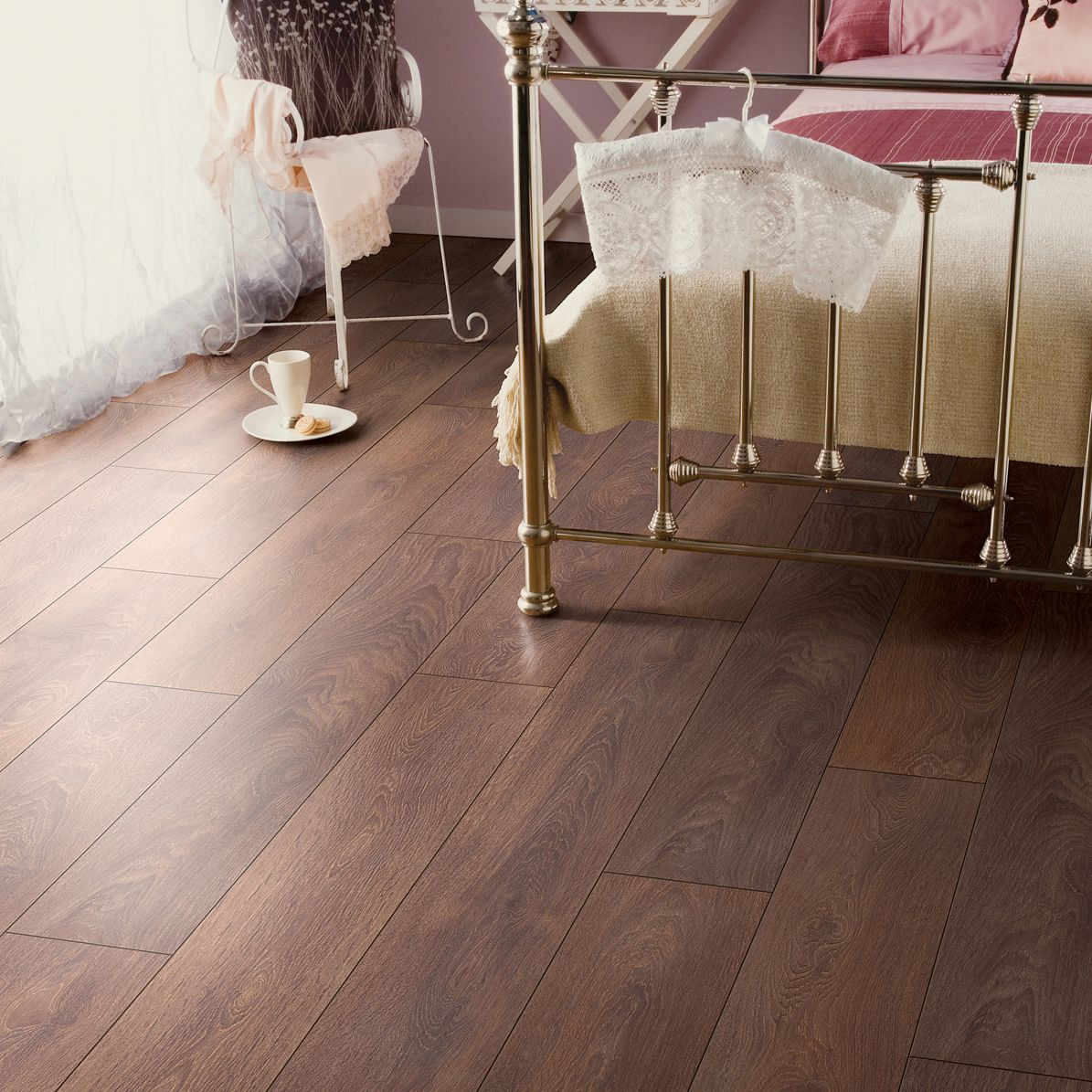 Bathroom Colours Amadeo Shire Oak Effect Laminate Flooring 2 22m²
