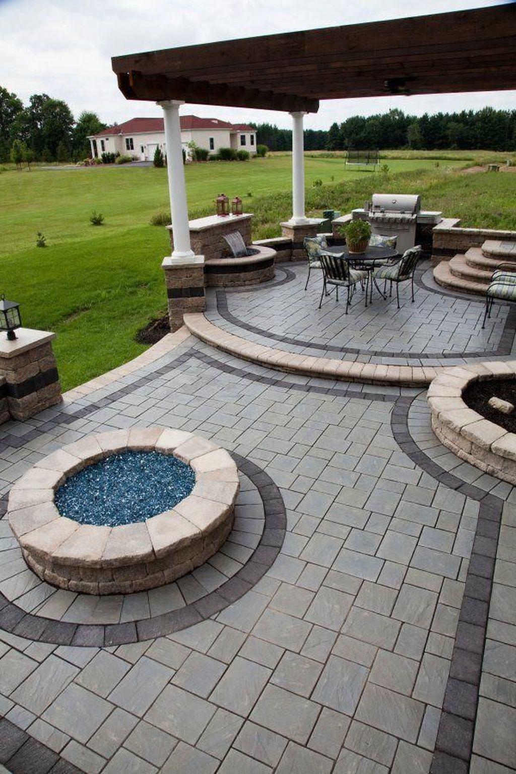 60 Simple Backyard Patio Designs Ideas Stone Patio Designs