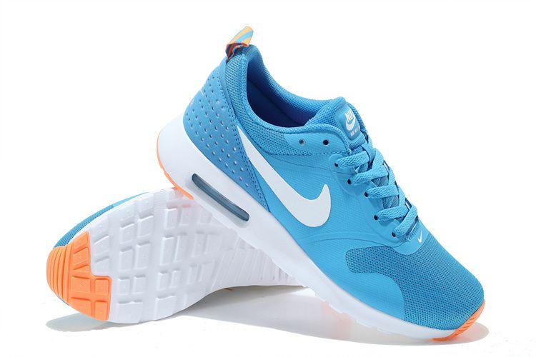 Buy Nike Air Max Authentic Thea Print 87 Womens Free Shipping Glacier Blue White Atomic Orange
