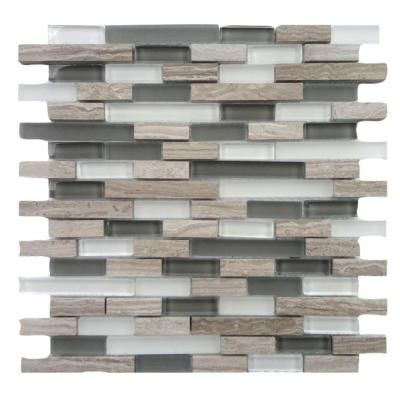 Solistone Opera Glass Aria Light 12 in. x 12 in. x 7.93 mm Glass and Marble Mosaic Wall Tile (10 sq. ft. / case) - 9037L - The Home Depot