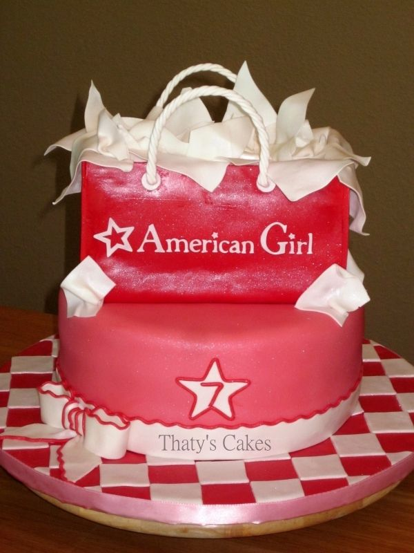 Katiesheadesign Cakes American Girl Cake With Images