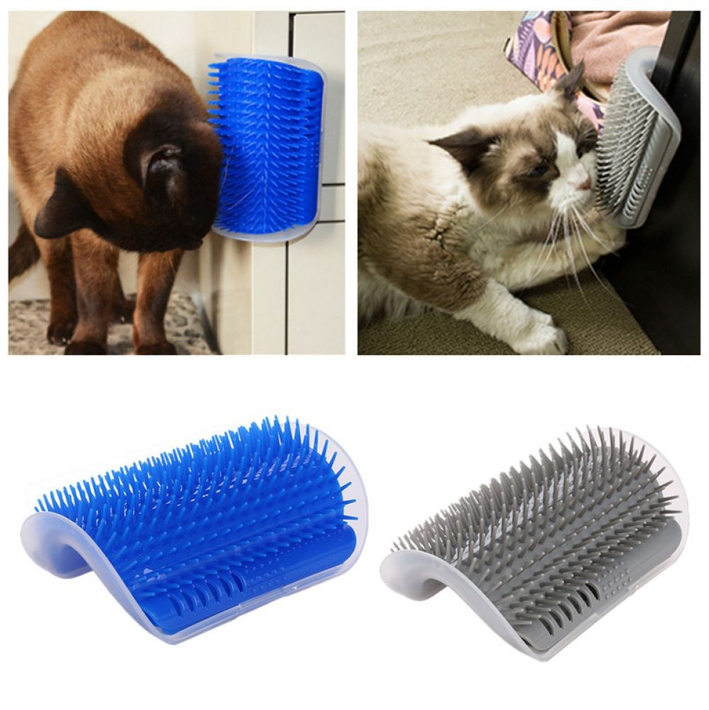 Pet Cat Self Grooming Comb Brush Corner Kitten Cat Self