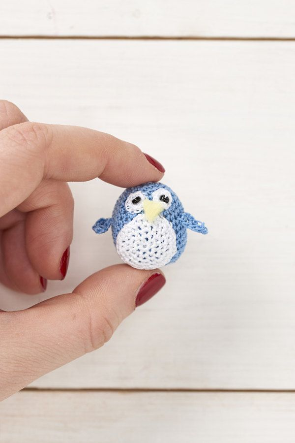 Micro Crochet Penguin Pdf Crochet Pattern Mollymakes Advent