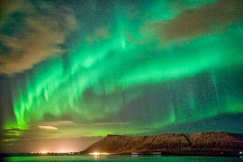 The Aurora Borealis over Iceland