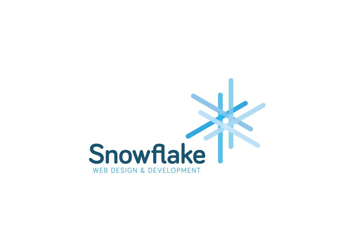 Snowflake Logo Design White