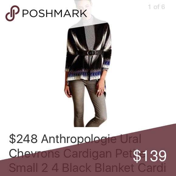 Anthropologie Ural Chevrons Cardigan Petite Small NWT Anthropologie Sweaters Cardigans