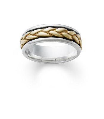 Silver Wedding Band With Gold Braid James Avery Silver Wedding Bands Rings For Her Wedding Bands