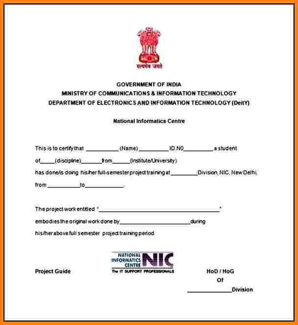 Image result for networking training certificate format Sonu Kumar - best of noc letter format rent