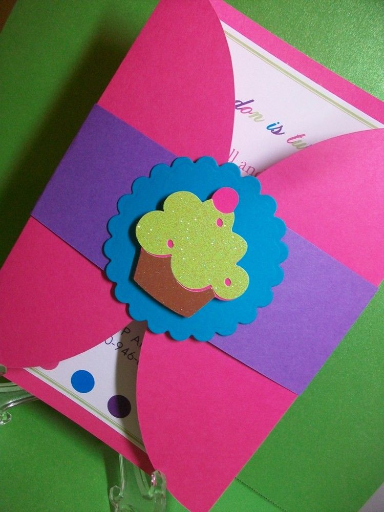 Cupcake Birthday Invitations 32 00 Via Etsy Tarjetas