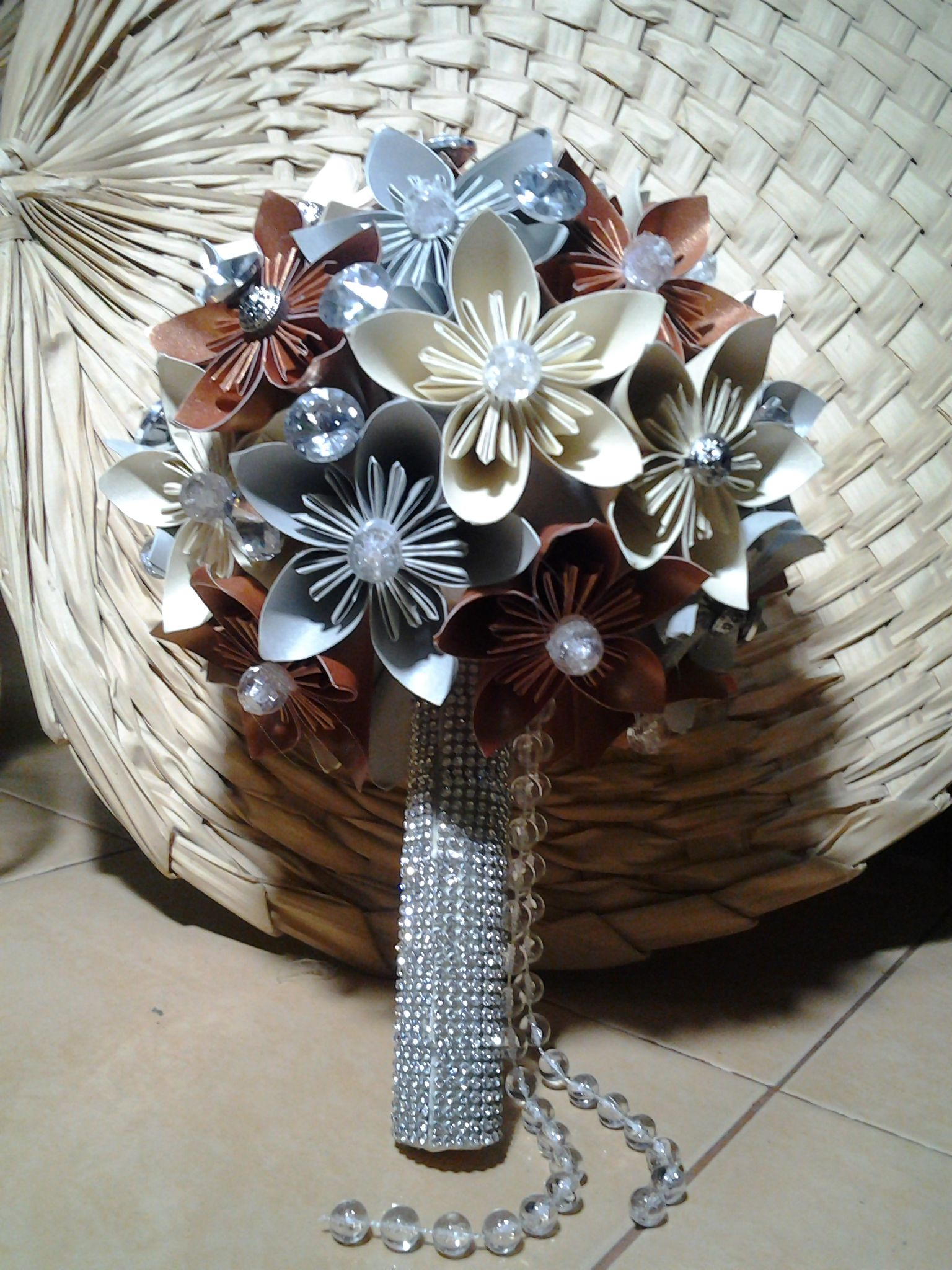 This Paper Flower Hand Bouquet Especially Made For Schazwany Wedding