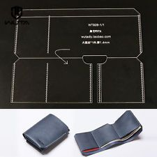 Trifold Wallet Acrylic Template Leather Craft Pattern 928 Wallet Pattern Leather Diy Crafts Leather Trifold Wallet