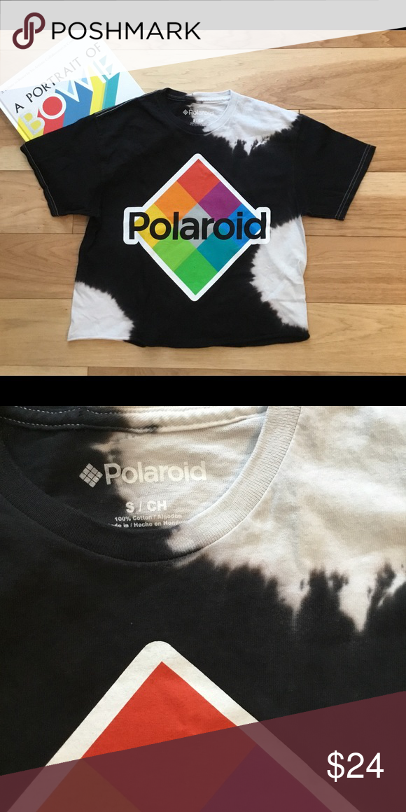 f9ac213e NWT⚡ 📸 Polaroid Tie-dye crop T. 📸 No Paparazzi please!!! 💜😉 Cropped at  waist, 100% cotton Polaroid Tops Tees - Short Sleeve